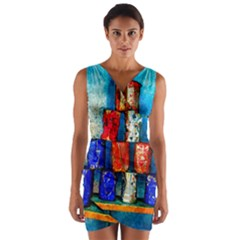 Soup Cans   After The Lunch Wrap Front Bodycon Dress