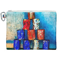 Soup Cans   After The Lunch Canvas Cosmetic Bag (xxl) by FunnyCow