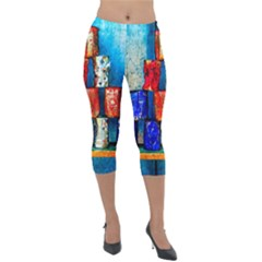 Soup Cans   After The Lunch Lightweight Velour Capri Leggings  by FunnyCow