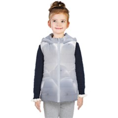 White Toy Balloons Kid s Hooded Puffer Vest