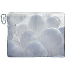 White Toy Balloons Canvas Cosmetic Bag (xxl)