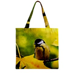 Tomtit Bird Dressed To The Season Grocery Tote Bag by FunnyCow