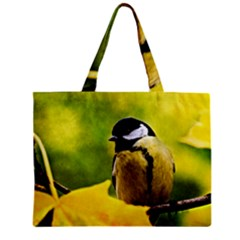 Tomtit Bird Dressed To The Season Mini Tote Bag by FunnyCow