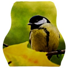 Tomtit Bird Dressed To The Season Car Seat Velour Cushion  by FunnyCow