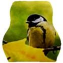 Tomtit Bird Dressed To The Season Car Seat Velour Cushion  View1