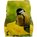 Tomtit Bird Dressed To The Season Car Seat Velour Cushion  View2