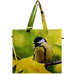 Tomtit Bird Dressed To The Season Canvas Travel Bag