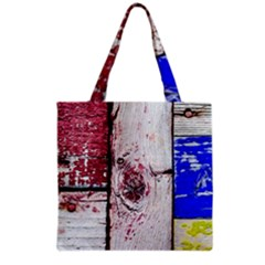 Abstract Art Of Grunge Wood Grocery Tote Bag by FunnyCow