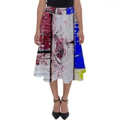 Abstract Art Of Grunge Wood Perfect Length Midi Skirt by FunnyCow