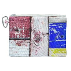 Abstract Art Of Grunge Wood Canvas Cosmetic Bag (xl) by FunnyCow
