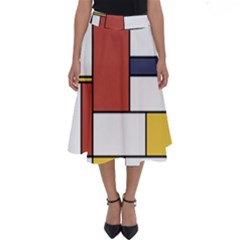 Neoplasticism Style Art Perfect Length Midi Skirt by FunnyCow