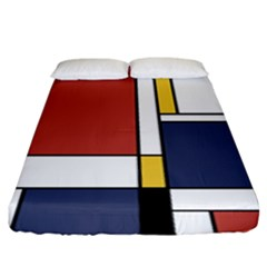 Abstract Art Of De Stijl Fitted Sheet (king Size)