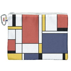 Abstract Art Of De Stijl Canvas Cosmetic Bag (xxl) by FunnyCow