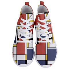 Abstract Art Of De Stijl Men s Lightweight High Top Sneakers