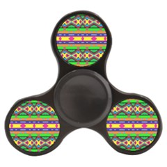 Distorted Colorful Shapes And Stripes                                   Finger Spinner by LalyLauraFLM