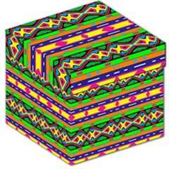 Distorted Colorful Shapes And Stripes                                         Storage Stool by LalyLauraFLM