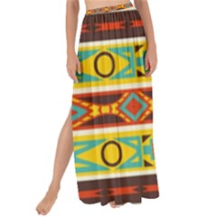 Ovals Rhombus And Squares                                        Maxi Chiffon Tie-up Sarong