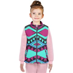 Ovals And Rhombus                                    Kid s Puffer Vest by LalyLauraFLM