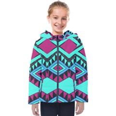 Ovals And Rhombus                                         Kids  Hooded Puffer Jacket