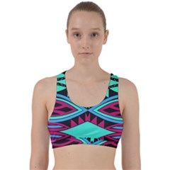 Ovals And Rhombus                                             Back Weave Sports Bra by LalyLauraFLM