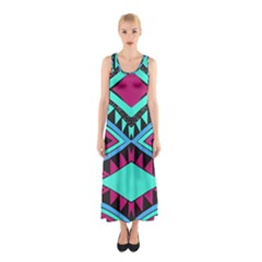 Ovals And Rhombus                                          Full Print Maxi Dress by LalyLauraFLM