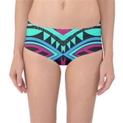 Ovals And Rhombus                                          Mid-waist Bikini Bottoms by LalyLauraFLM