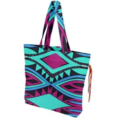 Ovals And Rhombus                                   Drawstring Tote Bag