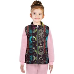 Circles Texture                                    Kid s Puffer Vest