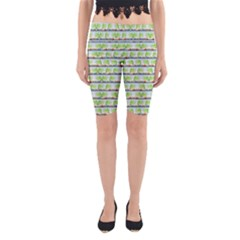Cars And Trees Pattern Yoga Cropped Leggings