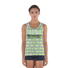 Cars And Trees Pattern Sport Tank Top