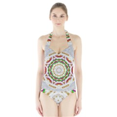 Fauna In Bohemian Midsummer Style Halter Swimsuit by pepitasart