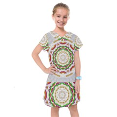 Fauna In Bohemian Midsummer Style Kids  Drop Waist Dress
