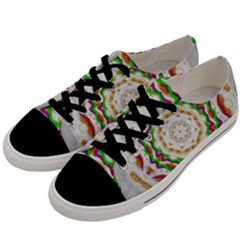 Fauna In Bohemian Midsummer Style Men s Low Top Canvas Sneakers by pepitasart