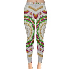 Fauna In Bohemian Midsummer Style Inside Out Leggings by pepitasart