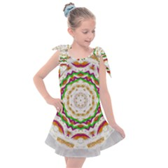 Fauna In Bohemian Midsummer Style Kids  Tie Up Tunic Dress