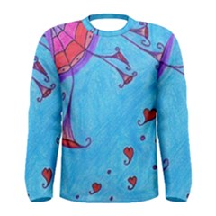 Hearts And Blue Men s Long Sleeve Tee