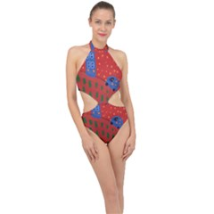 Almost Home Halter Side Cut Swimsuit