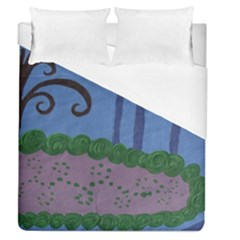 Purple Shoe Duvet Cover (queen Size) by snowwhitegirl
