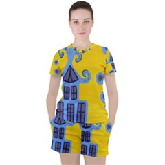 Blue House Women s Tee And Shorts Set