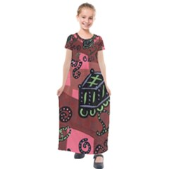 Floating Bed Kids  Short Sleeve Maxi Dress