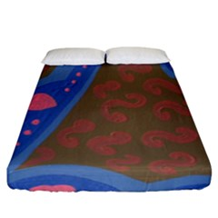 Hair Salon Floor Fitted Sheet (king Size) by snowwhitegirl