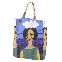 Girl By The Sea Giant Grocery Tote