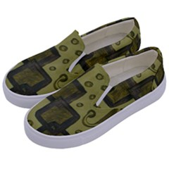 Four Squares Kids  Canvas Slip Ons by snowwhitegirl