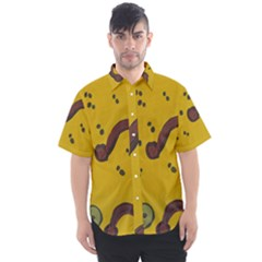 Swimming Worms Men s Short Sleeve Shirt