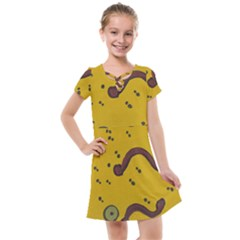 Swimming Worms Kids  Cross Web Dress by snowwhitegirl