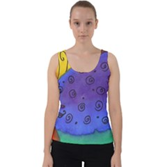 Whale And Eggs Velvet Tank Top