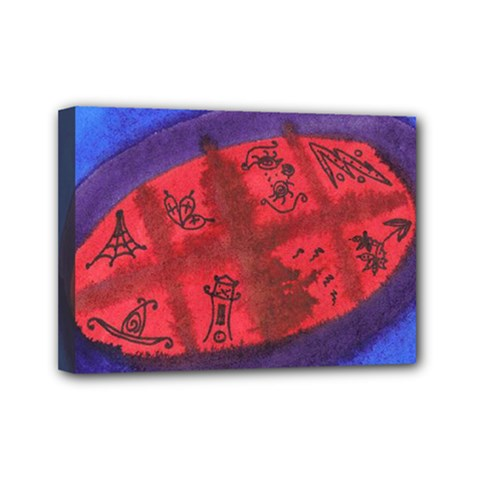Red Egg Mini Canvas 7  X 5  by snowwhitegirl