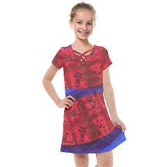 Red Egg Kids  Cross Web Dress by snowwhitegirl