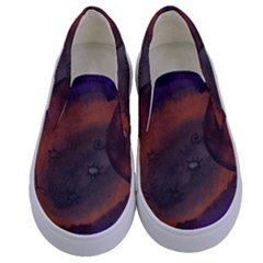 The Black Whole Egg Kids  Canvas Slip Ons
