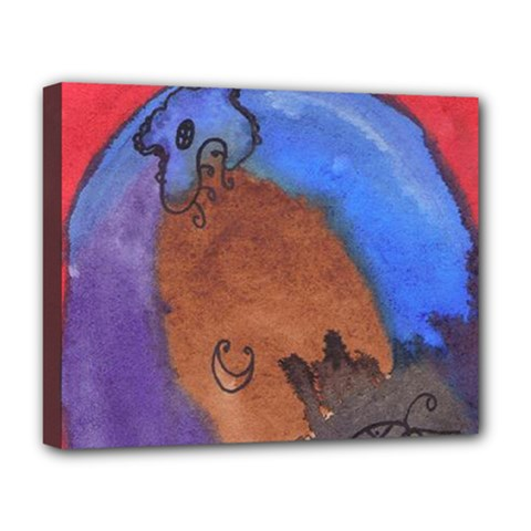 Creepy Castle Deluxe Canvas 20  X 16   by snowwhitegirl
